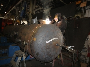 Vessel being welded on 2